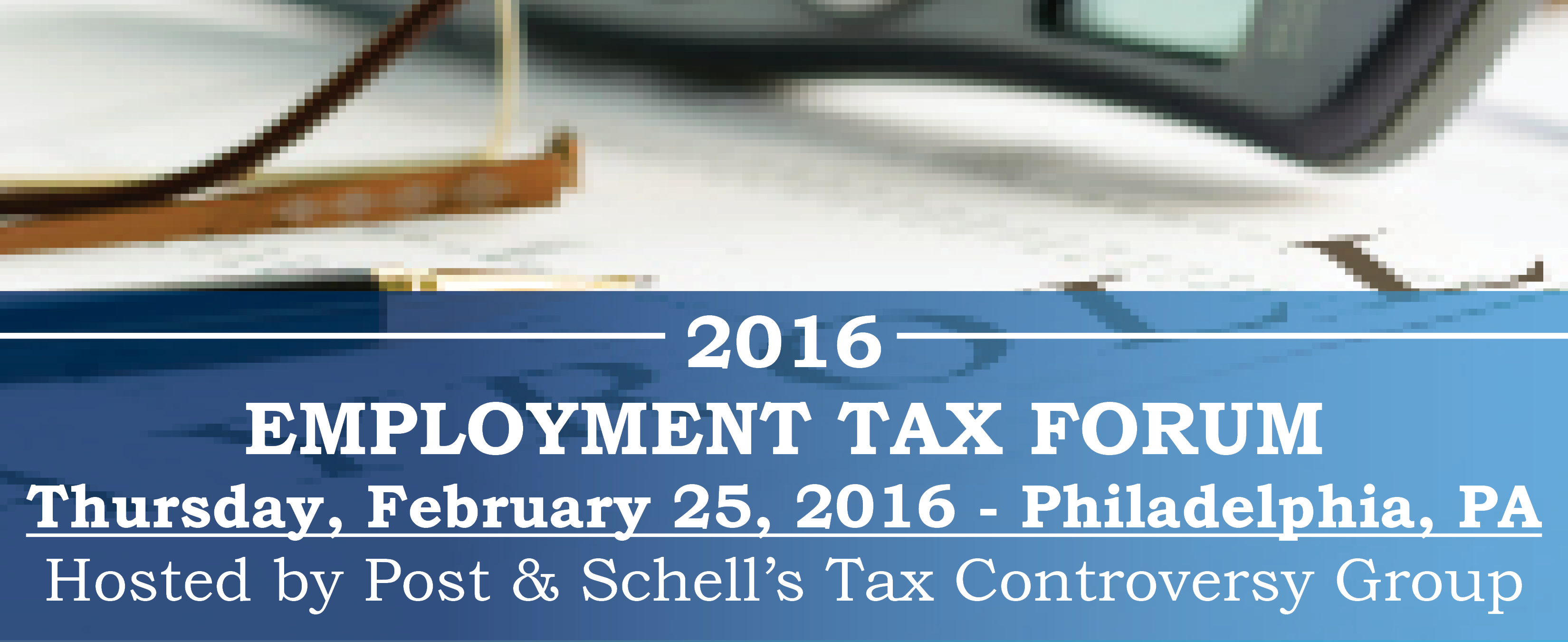 Employment Tax Forum RSVP BANNER - 2016